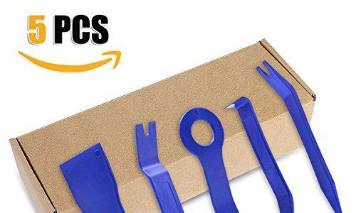verschiedene Formen Blau – Zierleistenkeile-Set, Aodoor 5-teilig Türverkleidungs Lösewerkzeug Demontage Auto Türverkleidung und Platten