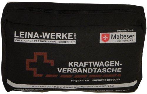 Leina 73602 Verbandtasche, Schwarz/Rot