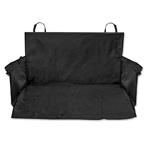 TECAROO Universal-Kofferraumdecke mit Seitenschutz in schwarz mit 2 Jahren Zufriedenheitsgarantie – Kofferraum-Schutzdecke / Kofferraum-Schondecke / Kofferraum-Matte