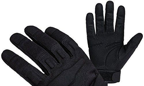 FREETOO Verstärkte Taktische Handschuhe mit PU-Leder + Nylon Design-Ideen für Fahrradfahren, Schießen, Fahren und andere Outdoor-Aktivitäten Schwarz