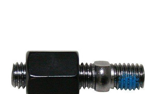 Spiegeladapter M10 x1.25mm Rechtsgewinde schwarz