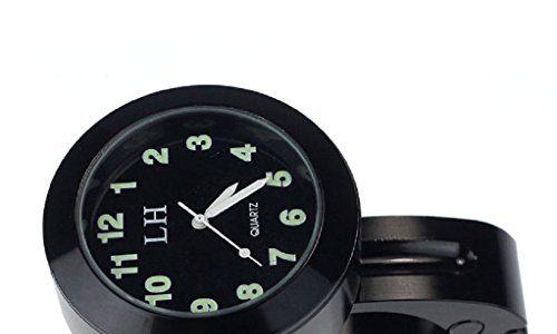 TOOGOOR Motorrad Zubehoer Lenker wasserdichte Uhr schwarz – Motorrad Lenker
