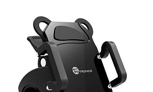 Smartphone Fahrrad Halterung TaoTronics TT-Handy Bike, Ständer Ladegeräte für Geräte ios & Android/GPS Klemme rutschfest, Rotation 360Grad, Grip Gummi für 4Ecken blockiert