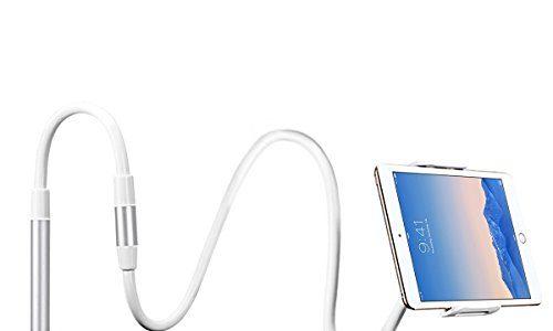Schwanenhals Handy Halterung, Ubegood iPad Schwanenhals Halterung Halter Einstellbare Halter Tablets Telefon halterung 360 ° Drehen für 4-11 Zoll Android und Apple Device Weiß