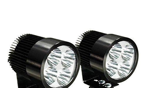 TOOGOOR2 x Universal Motorrad Osram LED Front Punkt Licht Scheinwerfer Lampen 12 24V – Motorrad LED Licht
