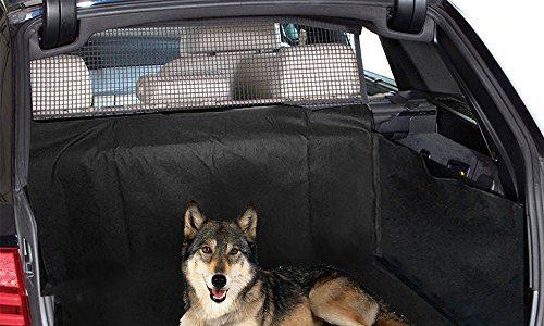 Auto Hundedecke, Aodoor Universal-Kofferraumdecke mit Seitenschutz, Hochwertiges Wasserfestes Kofferraum-Auskleidung vor Schmutz und Tierhaaren Schutz – Schwarz 155*104*33cm
