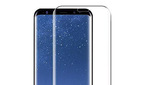 Galaxy S8 Plus Panzerglas Schutzfolie, Ubegood Galaxy S8 Plus Displayschutzfolie 3D Curve Gehärtetem Glas Panzerfolie Anti-Kratzen Klar HD Ultra Screen Protector für Samsung galaxy S8 Plus in Transparent