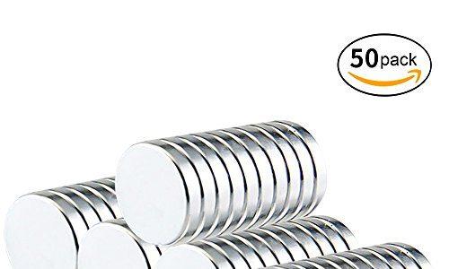 Magnete Neodym. Vitutech Neodym Magnete 50 9×1.8mm | klein, rund & ultra-starke Magnets Kühlschrank-Magnete Mini-Magnete für Whiteboard, Pinnwand, Magnettafel, Kühlschrank