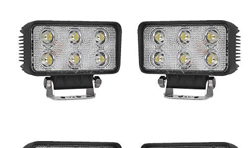 SAILUN 2/4 x 18W Arbeitsleuchte LED Light Bar Offroad Zusatz Scheinwerfer Auto Beleuchtung Arbeitsscheinwerfer Wasserdicht IP67 für Jeep PKW 4WD SUV ATV 4 * 18W