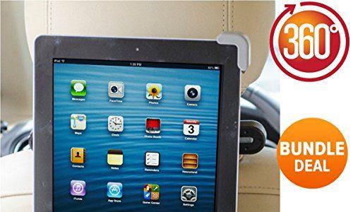 SONDERANGEBOT Universale Tablet Halterung, GRAD BONUS gratis iPhone Autohalterung Ubegood Auto Rücksitz Kopfstütze Halterung Einstellbare Halter Für Apple iPad 2/3/4/Mini/Air, Samsung Galaxy Tab, Google Nexus und andere 6-11 Zoll Tablets