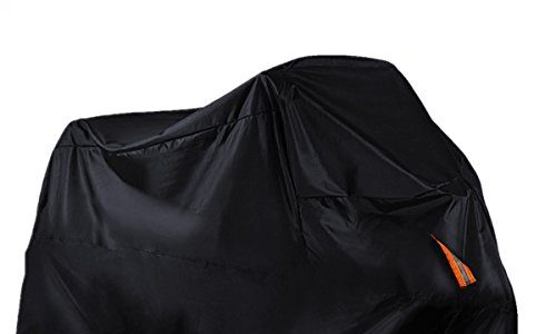 Audew Motorradgarage Motorrad Abdeckung Schutzhülle Abdeckplane Jede Jahreszeit Sonnenschutz Wasserdicht Schwarz Indoor Outdoor