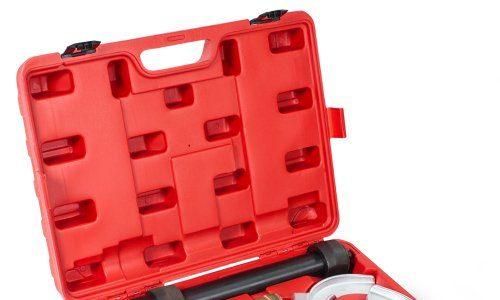 TecTake Universal Federspanner für Federbeinsysteme + Koffer