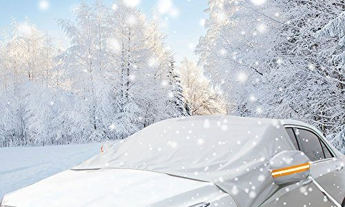 Winterabdeckung Scheibenabdeckung Eisschutz, ikalula Anti-Frost Auto Scheibenabdeckung Faltbare Abnehmbare Frontscheibe Abdeckung Sonnenschutz Windschutzscheibe Abdeckung