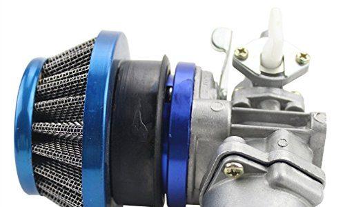 GOOFIT Tuning Vergaser mit Luftfilter für 2 Takt 47cc 49cc Mini ATV Quad Dirt Pocket Bike