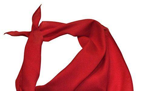 "Unifarbenes ""halbes"" Nickituch in leuchtendem Rot"