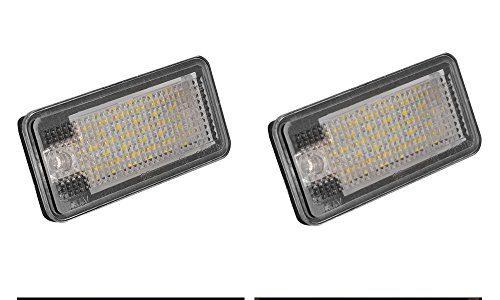 XCSOURCE® 2Stk KFZ Kennzeichenleuchte CANbus Error Free 3528 SMD LED Lampe für Audi A3 S3 S6 A4 B6 A7 A6 A7 A5 MA1298