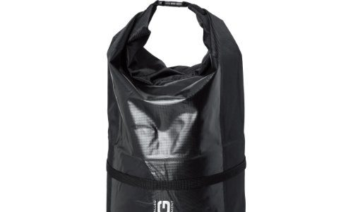 QBag Gepäckrolle schwarz | Reisetasche wasserdicht Nylon, 40 Liter Stauraum