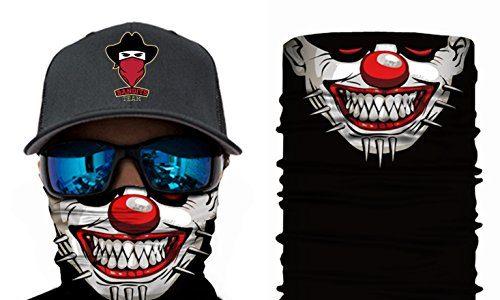 Maske fürs Motorrad-, Fahrrad- und Skifahren –  44 Designs  Bedrucktes Multifunktionstuch Bandana Halstuch Kopftuch: Face Shield aus Mikrofaser – Material ist flexibel und atmungsaktiv