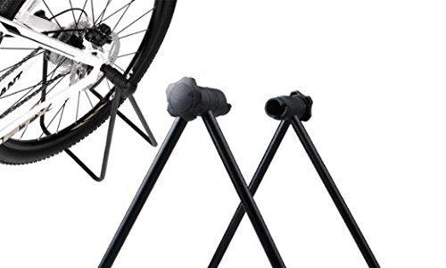 Gearmax® Neues Fahrrad Montageständer Rad Kickhalterträger Zentrierwerkzeuge Halterung für Fahrrad-Räder Straßen-Gebirgsfahrrad Werkzeuge Wartung