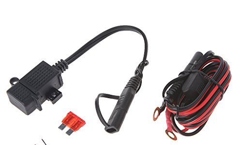 Qiman Motorrad 2.1A wasserdicht USB Ladegerät Kit SAE zu USB Adapter + Extension Harness