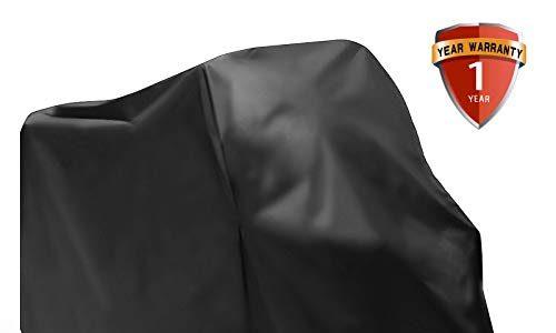 AUQUSH Motorrad Abdeckplane Wasserdichte Motorradabdeckung Mit Oxford Haltbar und reißfest für 105 Zoll Motorrad wie Honda, Yamaha, Suzuki,Harley-Davidson,Kawasaki