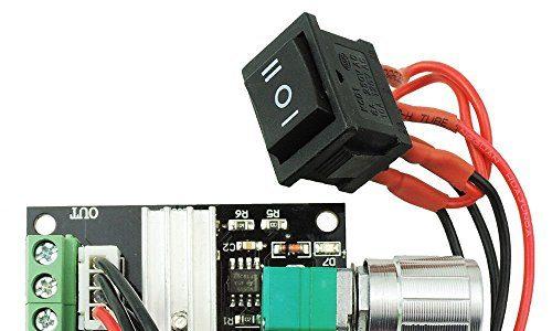 Yosoo 6 V 12 V 24 V 3 A DC Geschwindigkeitsregler PWM-Motorsteuerung einstellbarer Drehzahlregler 1203BB DC Steuerung Rückwärtsmotor