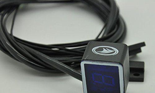 Yosoo Universal-Digital-Schaltungsanzeige, für Motorräder, mit Hebelsensor, Blau