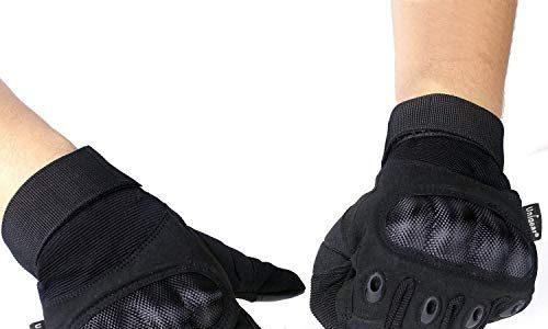 Unigear Taktische Handschuhe, Motorrad Handschuhe Herren, Sommerhandschuhen fürs Motorradfahren Handschuhe Army Gloves Sporthandschuhe Geeignet für Motorräder, Militär, Airsoft, MEHRWEG Schwarz-1, L
