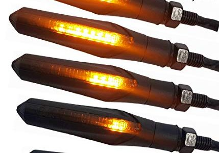 4 x E-Mark LED Motorrad Sequentiell Blinker Laufeffekt Universal Lauflichtblinker schwarz