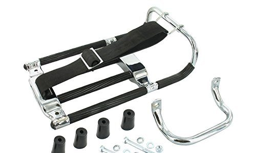 AKF Set: Gepäckträger mit Aufbockgriff + Kleinteile + schwarze Distanzstücke – für Simson KR51 Schwalbe