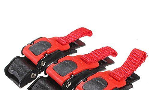 Ziehen Schnalle – SODIALR3x Kunststoff Motorrad-Sturzhelm Geschwindigkeit Clip Kinnriemen Schnellspanner ziehen Schnalle Neu schwarz + rot