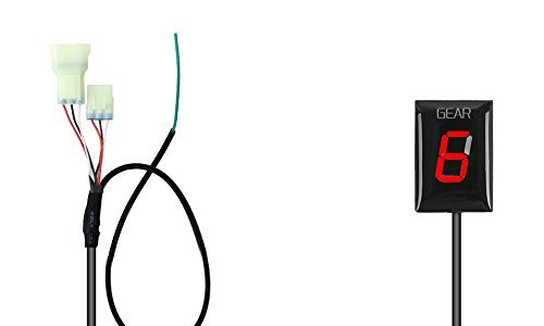Ganganzeige Motorrad, IDEA Wasserdichte 6 Speed LED Digital Display Schaltanzeige Schalthebel Plug & Play