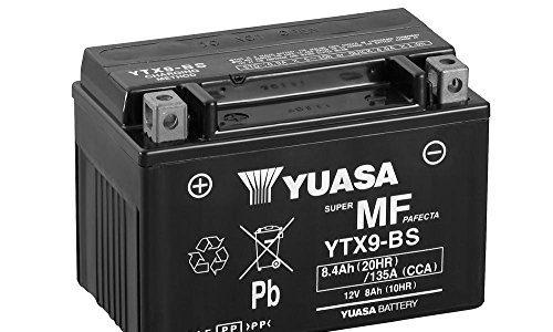 Batterie YUASA YTX9-BS, 12V/8AH Maße: 150x87x105 für Kawasaki ZX-9R 900 Baujahr 2000