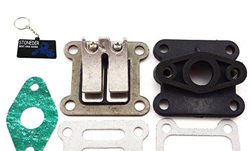 Stoneder Membranventil, Ansaugstutzen und Dichtungen für Mini Moto mit 47ccm, 49ccm, ATV Dirt Bike, Pocket Bike