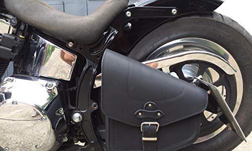 Odin Black Satteltasche für Harley Davidson schwarz Black von ORLETANOS Leder Neu Schwingentasche Seitentasche Tasche HD Chopper Fatboy Wildstar Dragstar Bikertasche