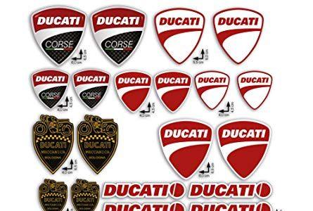 KIT DUCATI CORSE LOGO – KIT Sticker Aufkleber – gesamte panel 24pcs BIETEN Roller Motorrad Motocross