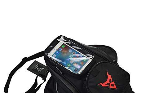 Chen0-super Tanktasche für Motorräder & Motorräder mit starkem magnetischem GPS-Reise-Satteltasche, wasserdicht, Oxford, klein, Red Label