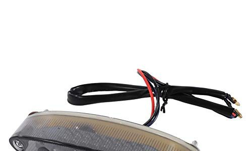 Keenso 12 V Motorrad Brems Rücklicht 28 LEDs Bremslicht Rauch Kennzeichenleuchte Hinten Rote LED Rücklicht für Motorrad Cruiser Bike ATV
