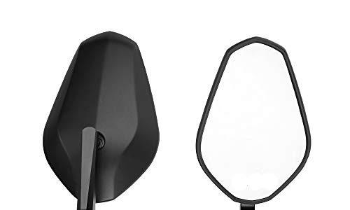 Lenkerendenspiegel Motorrad Spiegel Seitenspiegel Rückspiegel Lenkerspiegel universal für ATV MT 07 MT 09 S1000 FZ8 G310R R1200 GSXR 690 Z750 Z1000, 2 Stücke, Schwarz