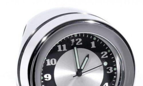 Lenkeruhr 1-1/4″ 32mm Metall Chrom Big Motorrad Uhr großes Ziffernblatt Harley