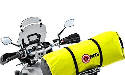 QBag Motorrad-Hecktasche Gepäckrolle wasserdicht 07, widerstandsfähig, reißfest, Rollverschluss, inklusive Tragegriff, Kompressionsgurte, Neongelb, 60 Liter