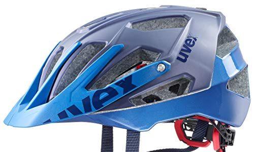 Uvex Unisex -Erwachsene Quatro Fahrradhelm, Blau blue mat, 56-61