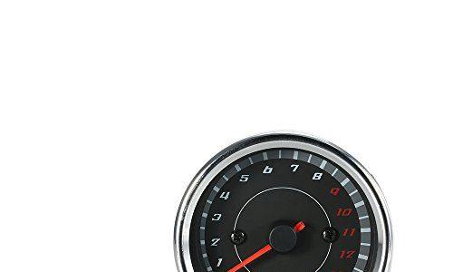 KKmoon 13 K RPM Tachometer Wandel mit Licht LED schwarz Motorrad universal