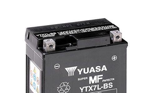 Batterie YUASA YTX7L-BS, 12V/6AH Maße: 114x71x131 für Kawasaki KLX125 D D-Tracker Baujahr 2013