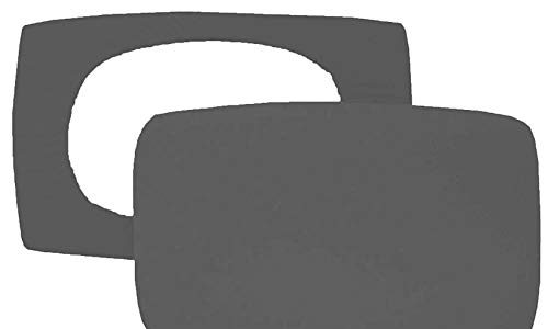 Home Edition 2er Pack Spannbezug für Nackenstützkissen Baumwolljersey mit Elasthan 36×50 bis 36×60 cm Anthrazit