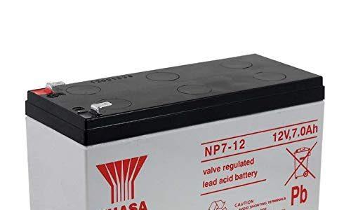 Yuasa Ersatzakku für Solaranlagen Hebebühnen Notbeleuchtung Alarmanlagen 12V 7Ah, 12V, Lead-Acid