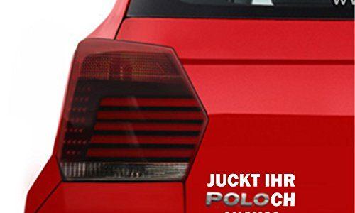 SUPERSTICKI Spaßaufkleber für Polo Auto Juckt Ihr POLOch auch? Fun Spass Aufkleber glatten Flächen Tuning Profi Qualität