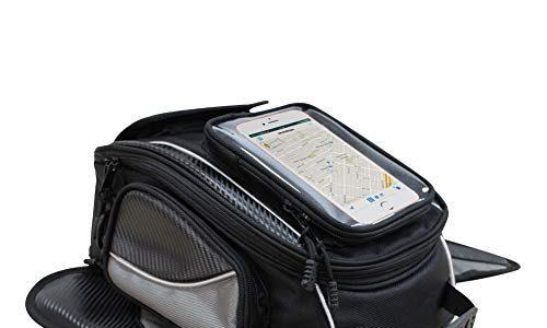 Wasserdichte Oxford-Schwarz-Motorrad-Tasche – Reise-Outdoor-Sporttasche Gepäck – Starke magnetische Tasche Universal für die meisten Motorräder – Dracarys Magnetic Motorcycle Tank Bag