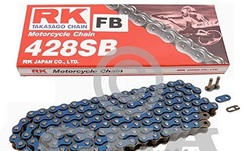 Kettensatz Yamaha WR 125 R X 09-17 Kette RK FB 428 SB 134 offen BLAU 14/53