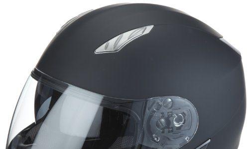 Protectwear H520-ES-M Motorradhelm,Integralhelm mit Integrierter Sonnenblende, Größe M, Schwarz-Matt